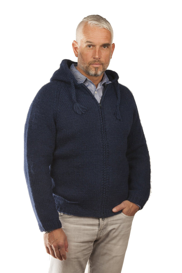Freri Wool Cardigan Blue - Álafoss - Since 1896
