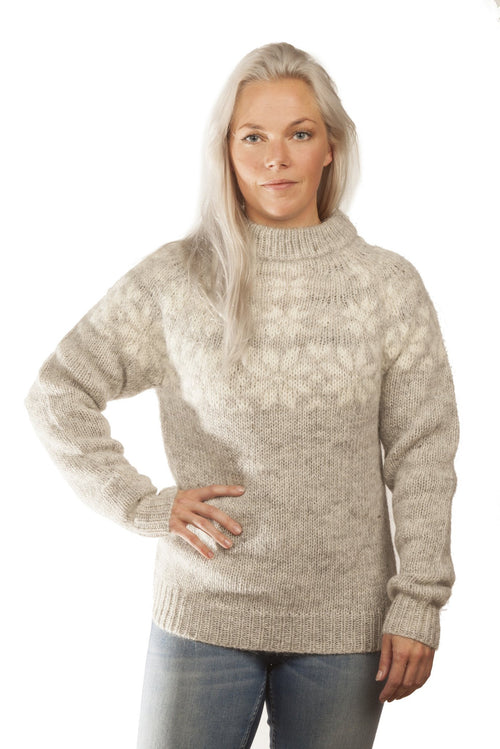 Fönn Wool Sweater Grey - Álafoss - Since 1896