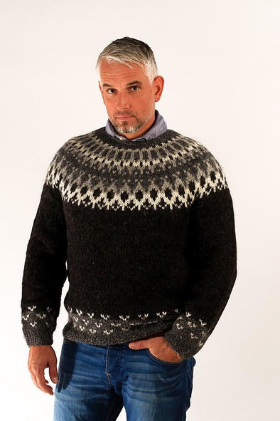 Skipper Wool Pullover Black - Álafoss - Since 1896
