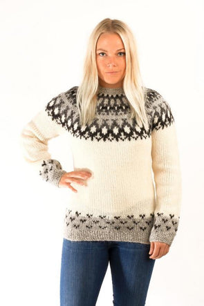 Skipper Wool Pullover White - Álafoss - Since 1896