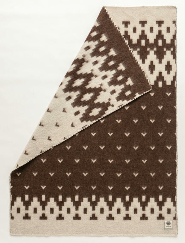 Lopi Brown 0501 - Álafoss Wool Blanket