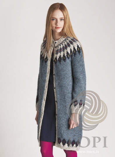 Kit: Astrid - Blue Sweater - Álafoss - Since 1896