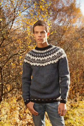 Kit: 20-year Anniversary Sweater Pattern Kit - Blue Adult Sweater