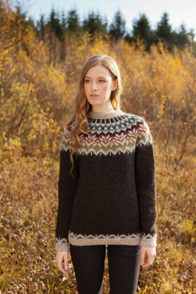 Kit: 20-year Anniversary Sweater Pattern Kit - Colorful Adult Sweater - Álafoss - Since 1896