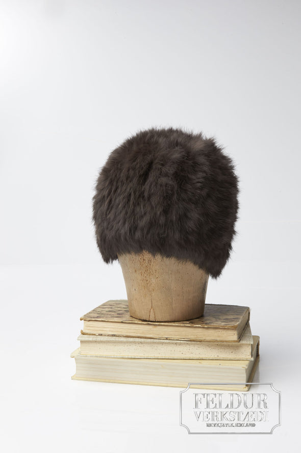 Logn Knitted Rabbit Hat - Chocolate Brown