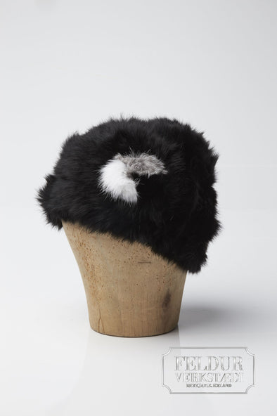 Stilla Knitted Rabbit Hat - Black - Álafoss - Since 1896