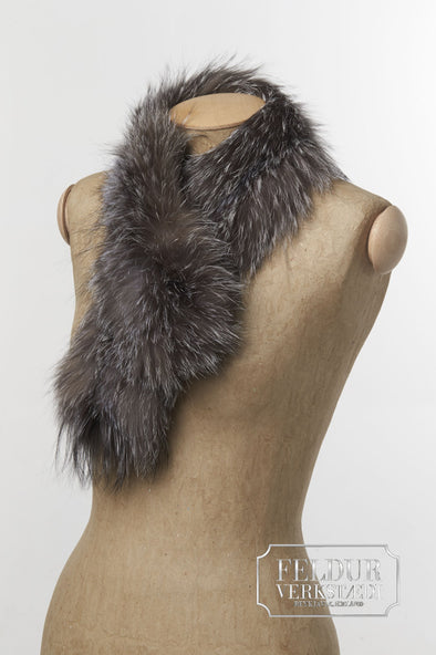 Vindur Scarf - Natural Silver Fox - Álafoss - Since 1896