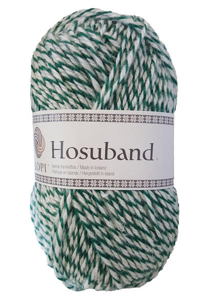 Hosuband - 9999 - white/green - Álafoss - Since 1896