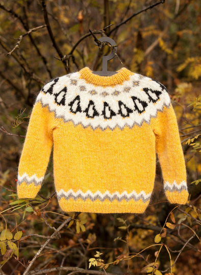 Penguin Children's Wool Sweater - Free Pattern - Álafoss - Since 1896