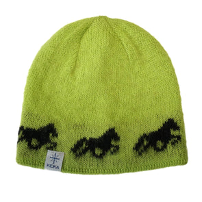 Kidka wool hat - Icelandic horse - Green