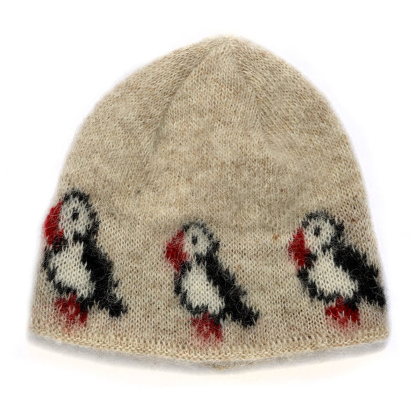 Kidka wool hat - Puffin - Beige