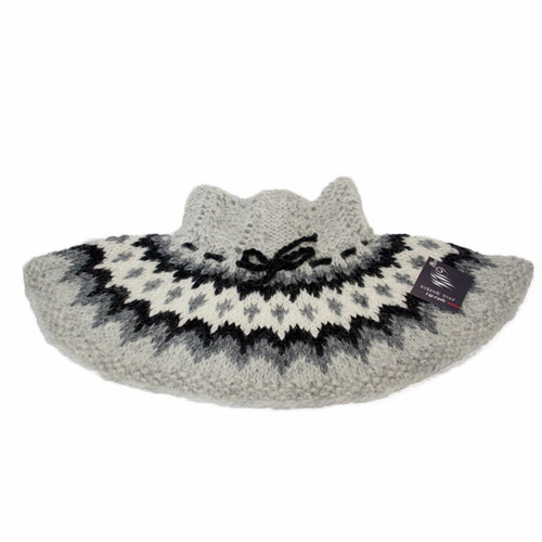 Neck Collar - Grey and White