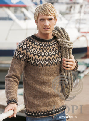Kit: Riddari: Brown Sweater - Álafoss - Since 1896