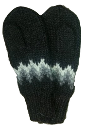 Wool Mittens - Black - Álafoss - Since 1896