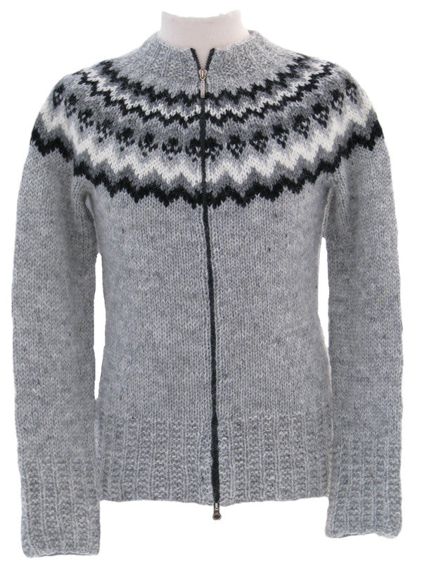 Female Wool Cardigan with Zipper