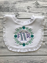 Ruffle Bib & Burp Cloth Personalized Set