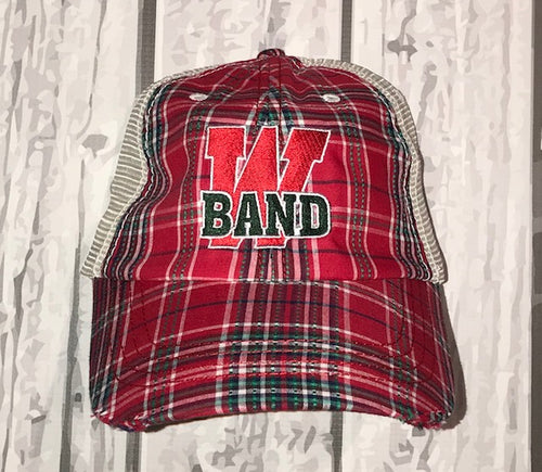 Band Plaid Cap