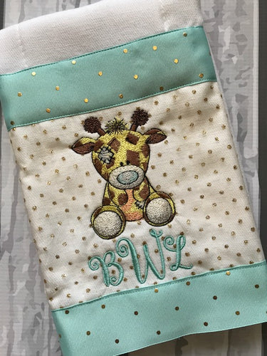 Burp Cloth Vintage Giraffe