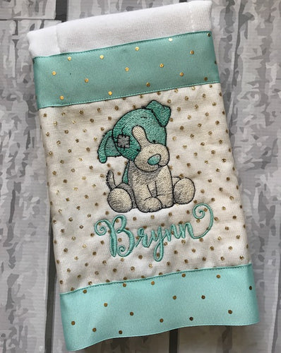 Burp Cloth Vintage Puppy