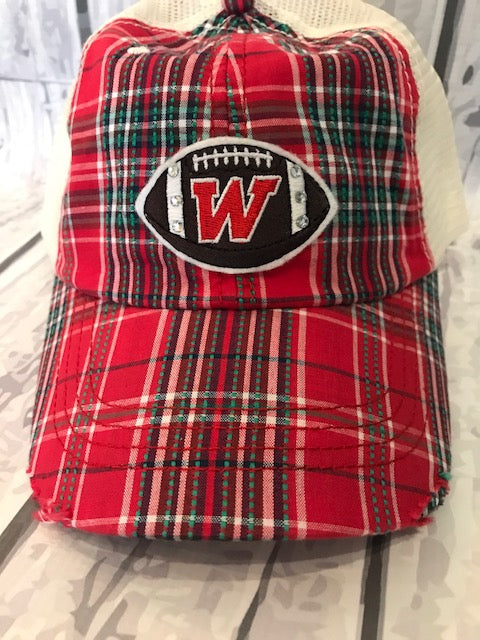 Plaid Football Cap