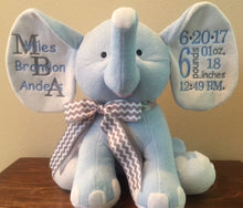 Personalized Birth Announcement Elephants