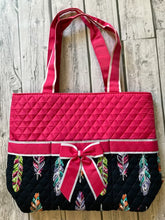 Pink Feather Diaper Bag