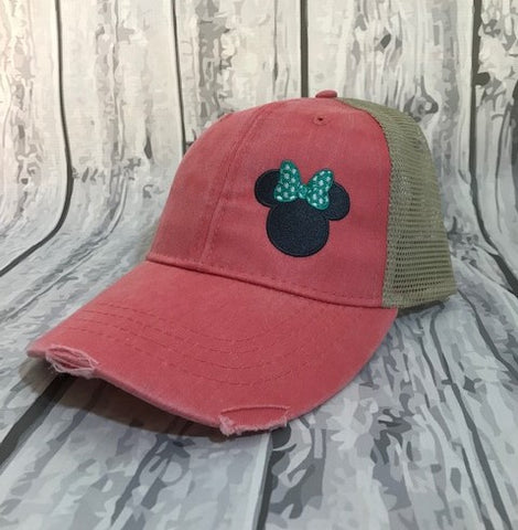 Mouse Trucker Caps Coral