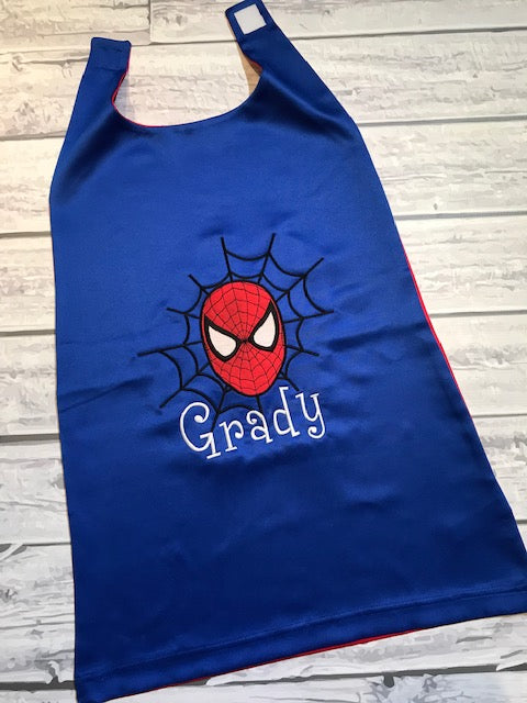 Personalized Spiderman Cape