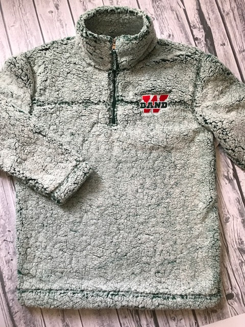 1/4 Zip Band Sherpa