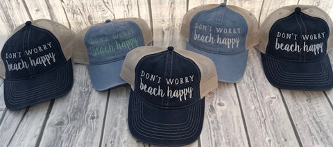 Don't Worry Beach Happy Caps