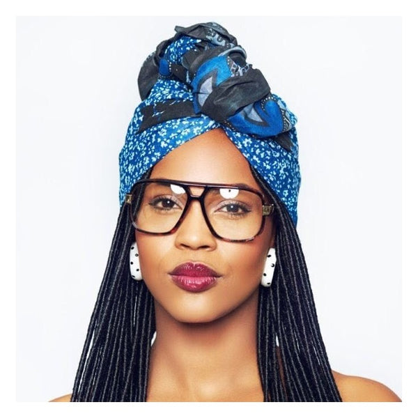 Wrap a fab headwrap or scarf as a turban for a trendy braid style - AntidoteStreet.com's Autumn Digest - 11 new ways to rock your braids