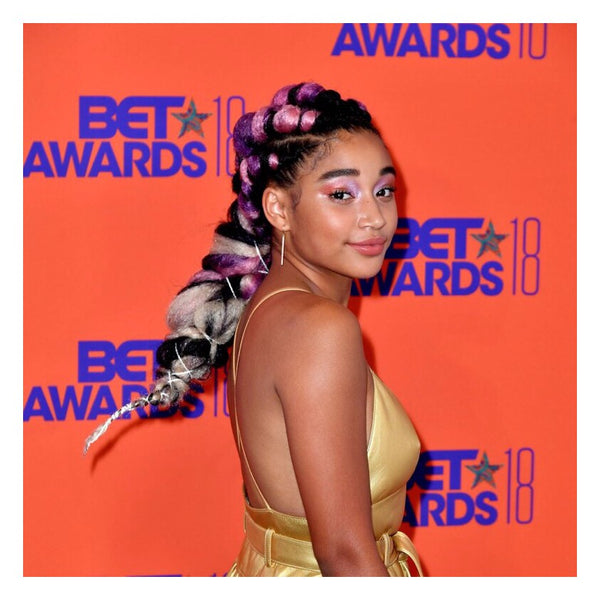 Amandla Stenberg is fire in this pastel yarn-wrapped braid look - AntidoteStreet.com's Autumn Digest - 11 new ways to rock your braids