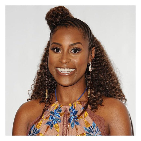 Issa Rae rocks this half-braided, half-out style - AntidoteStreet.com's Autumn Digest - 11 new ways to rock your braids