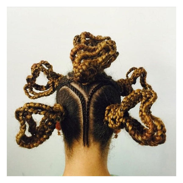 We love this heart-inspired style by @africancreature - AntidoteStreet.com's Autumn Digest - 11 new ways to rock your braids