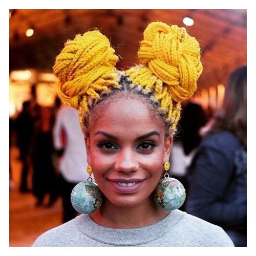 @magavilhas rocks these sunny yellow braids - AntidoteStreet.com's Autumn Digest - 11 new ways to rock your braids