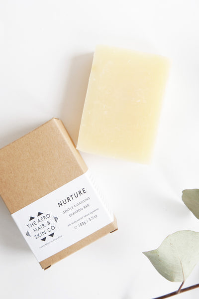 Shop NURTURE - Gentle Cleansing Shampoo Bar, 100g - by Afro Hair & Skin Co - on AntidoteStreet.com