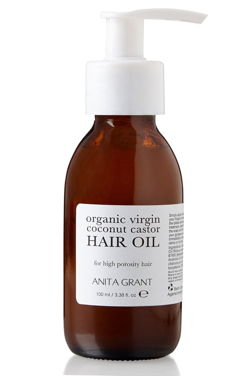 Organic Virgin Coconut Castor Hair Oil Detangler 100ml