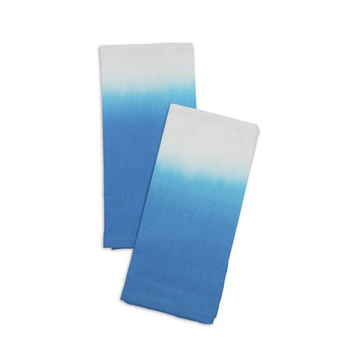 AQUA DIP DYED COTTON NAPKINS - The Willowlands