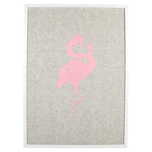FLOSSY FLAMINGO LINEN PRINT - The Willowlands