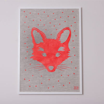 FOX LINEN PRINT - The Willowlands