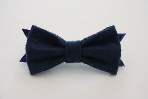 INDIGO FELT HAIRCLIP - The Willowlands