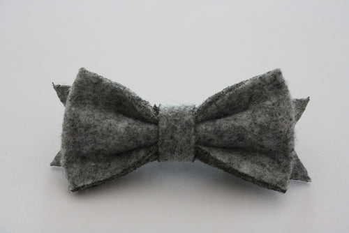 SPECKLED GREY FELT HAIRCLIP - The Willowlands