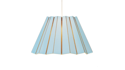 BLUE COMPLEATED PENDANT LAMP - The Willowlands
