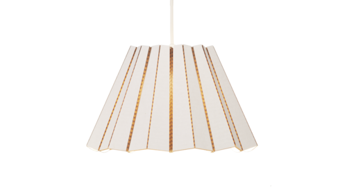 LARGE WHITE COMPLEATED PENDANT LAMP - The Willowlands