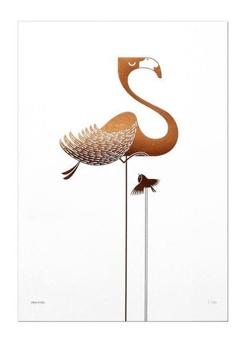 COPPER FOIL FLAMINGO - The Willowlands