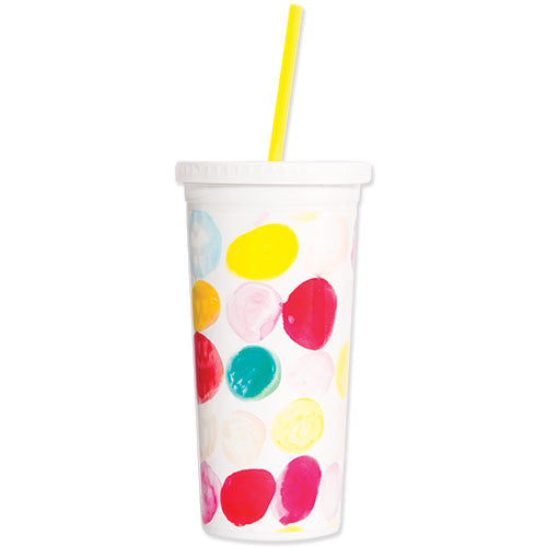 DOTTIE TUMBLER WITH STRAW - The Willowlands