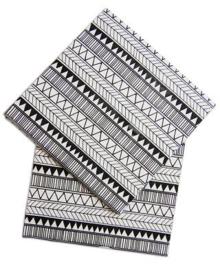 SCANDI ZIG ZAG PAPER NAPKINS - The Willowlands