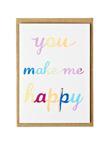YOU MAKE ME HAPPY CARD - The Willowlands