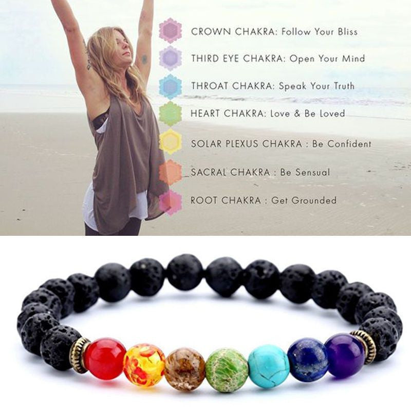 energy reiki healing qihe natural beads openchakraenergy multicolor bracelet life stones jewelry products balance women stone yoga chakra