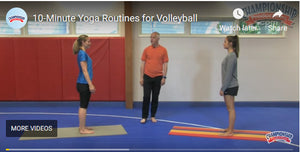 10 Minute Yoga Workout for Volleyball Players by Championship Productions